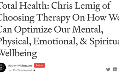 Authority Magazine Interview Excerpt with Chris Lemig, CHT